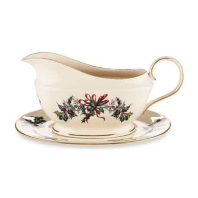 Lenox® Winter Greetings 4-Inch Gravy Boat with Stand (Set of 2)
