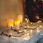 6-Foot Battery Operated Wrapped Gold Glitter Garland