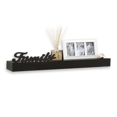 24-Inch Decorative Shelf with Dimensional Family Inscription