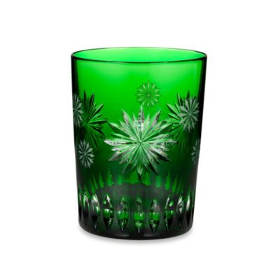 Waterford Crystal Snowflake Wishes for Courage 2nd Edition Double Old Fashioned Glass in Emerald
