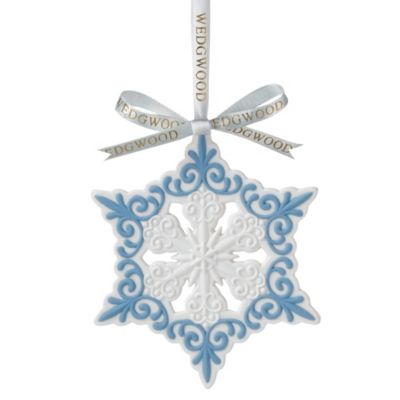 Wedgwood® Pierced Snowflake Ornament