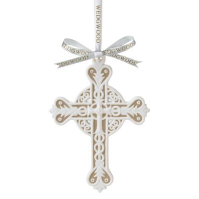 Wedgwood® Figural Cross Ornament