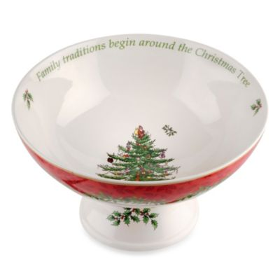 Spode® Christmas Tree 2013 Annual Footed Compote Serving Bowl