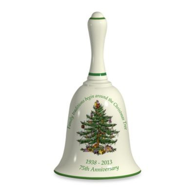 Spode® Christmas Tree 75th Anniversary 6-Inch Handled Bell