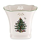 Spode® Christmas Tree Pierced Square Pointsettia Planter
