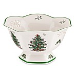 Spode® Christmas Tree 8-Inch Pierced Hexagonal Footed Bowl