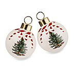 Spode® Christmas Tree Peppermint Bauble (Set of 2)