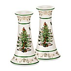 Spode® Christmas Tree Gold Candlesticks (Set of 2)