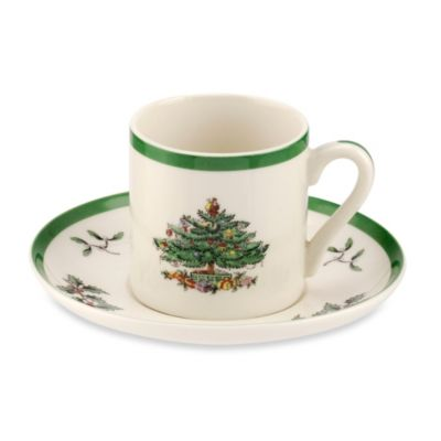 Spode® Christmas Tree 3-Ounce Espresso Cup & Saucer (Set of 4)