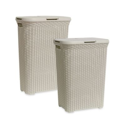 Lamont Home Curver Hamper in Clay White
