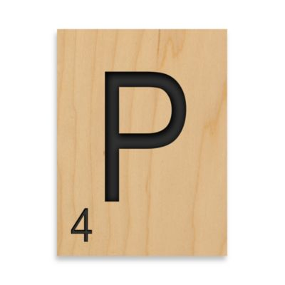 "Game Tile Letter ""P"" Wall Art"