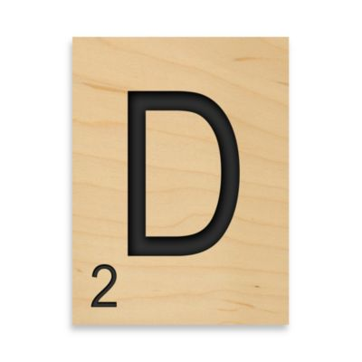 "Game Tile Letter ""D"" Wall Art Piece"