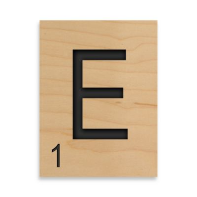 "Game Tile Letter ""E"" Wall Art Piece"