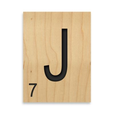 "Game Tile Letter ""J"" Wall Art"