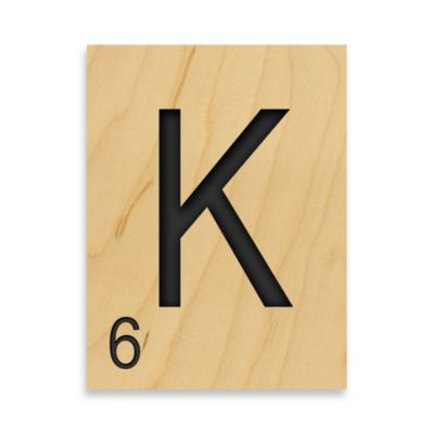 "Game Tile Letter ""K"" Wall Art"