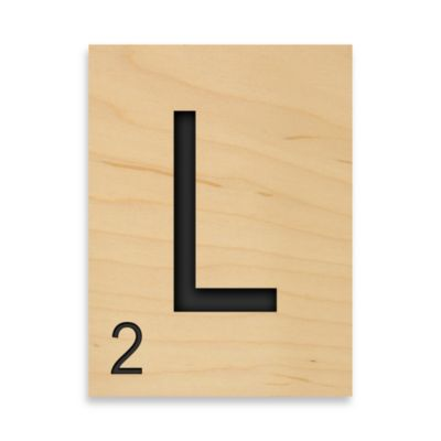 "Game Tile Letter ""L"" Wall Art"