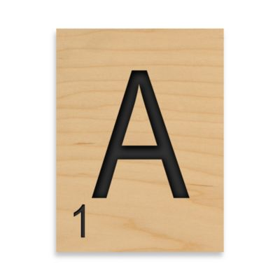 """Game Tile Letter """"A"""" Wall Art Piece"""