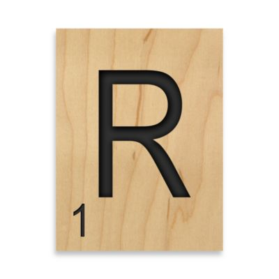 "Game Tile Letter ""R"" Wall Art"