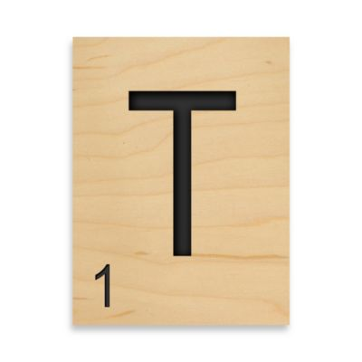 "Game Tile Letter ""T"" Wall Art"