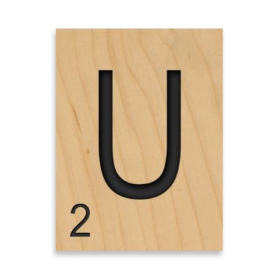 "Game Tile Letter ""U"" Wall Art"