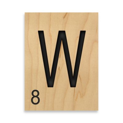 "Game Tile Letter ""W"" Wall Art"