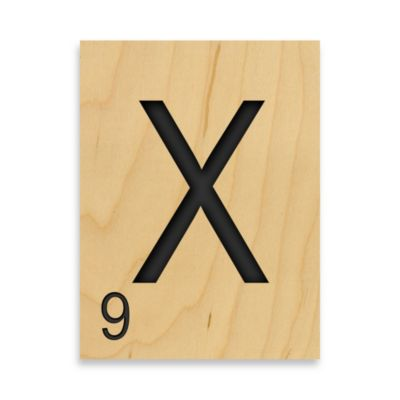 "Game Tile Letter ""X"" Wall Art"
