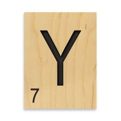 "Game Tile Letter ""Y"" Wall Art"