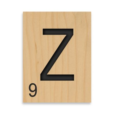 "Game Tile Letter ""Z"" Wall Art"