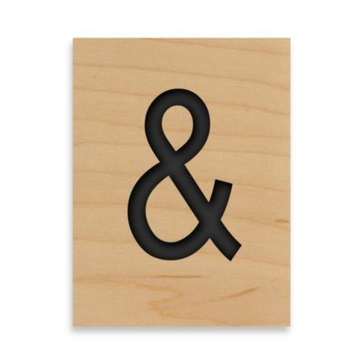 Game Tile Ampersand Wall Art Piece