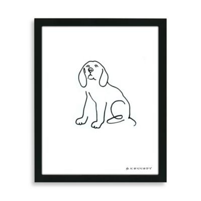 Beagle Framed Line Drawing