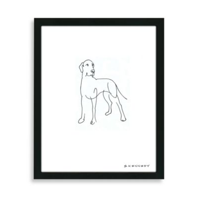 Great Dane Framed Line Drawing