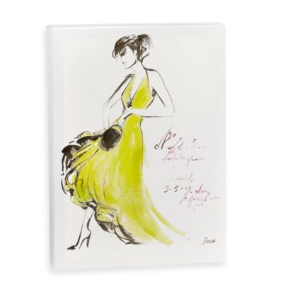 Fashion Sketch Wall Art in Yellow
