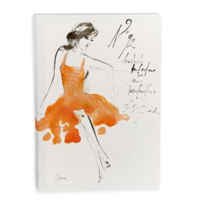 Fashion Sketch Wall Art in Orange