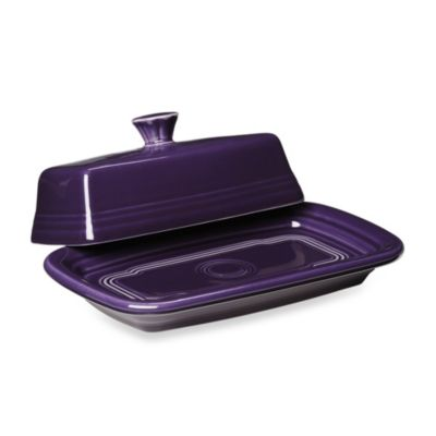 Fiesta® Extra-Large Covered Butter Dish in Plum