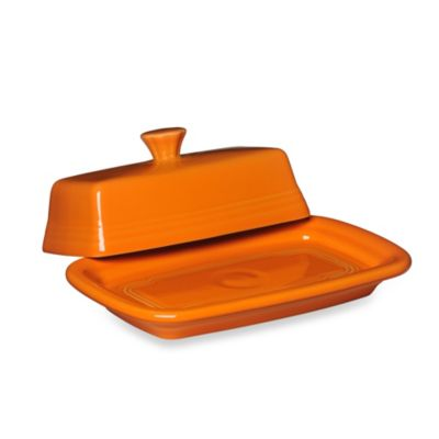 Fiesta® Extra-Large Covered Butter Dish in Tangerine