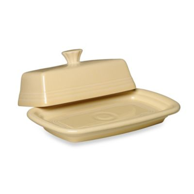 Fiesta® Extra-Large Covered Butter Dish in Ivory