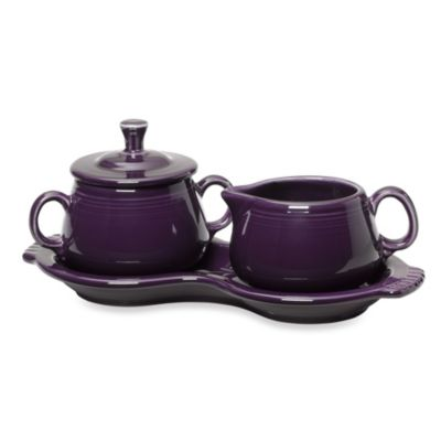 Fiesta® Sugar and Creamer with Tray in Plum
