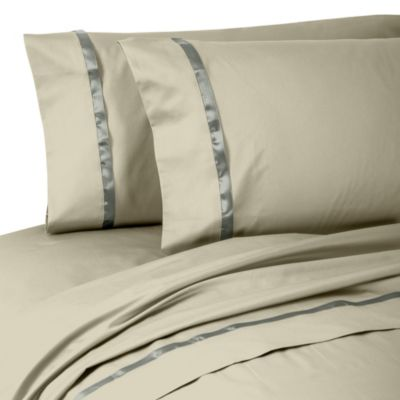 Waterford® Linens Kiley Standard Pillowcases in Taupe (Set of 2)