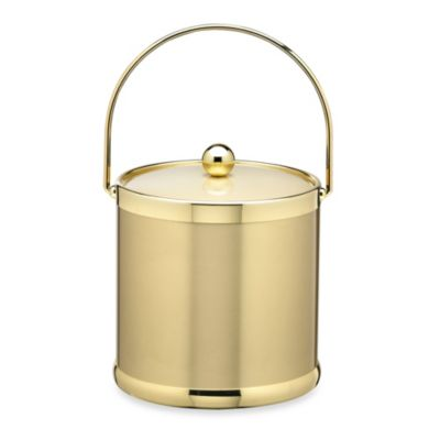 Kraftware™ Americano Brushed Brass 3-Quart Ice Bucket with Bale Handle