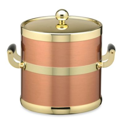 Americano 5-Quart Ice Bucket in Copper/Brass