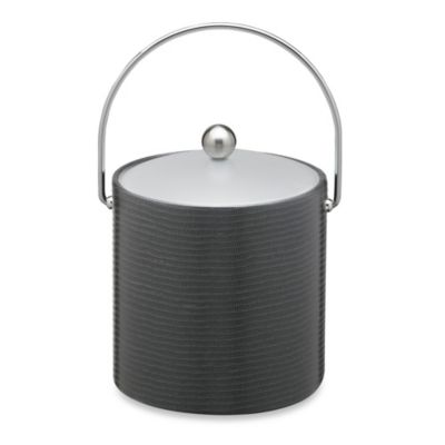 Kraftware™ Naturals Collection Liz 3-Quart Ice Bucket in Black
