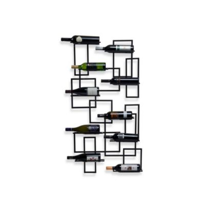 Mid Century Wall Mount 10-Bottle Wine Rack