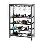 Oenophilia Industria 24-Bottle Wine Console