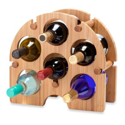 Oenophilia 6-Bottle Bamboo Arch Wine Rack