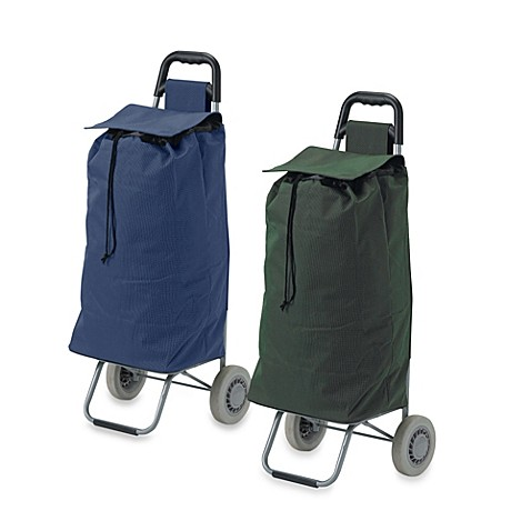 Drive Medical Lifestyle Essentials Rolling Shopping Cart with Canvas Bag