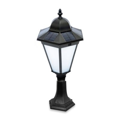 Nature Power Essex Collection 21-Inch Solar Powered Lamp in Black with 2 Installation Choices
