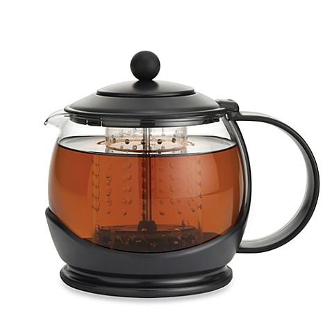 bonjour prosperity teapot with shut off infuser bed bath beyond. Black Bedroom Furniture Sets. Home Design Ideas