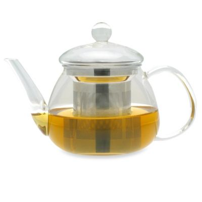 adagio teas 17-Ounce Petit Glass Teapot with Stainless Steel Infuser