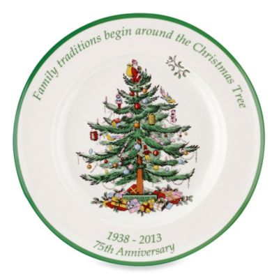 Spode® Christmas Tree 10.5-Inch 75th Anniversary Plate