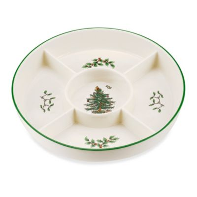 Spode® Christmas Tree 11.5-Inch 5-Section Platter
